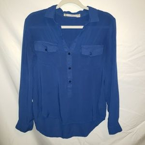 Anthropologie Chelsea & Violet Sz Medium Blue Top